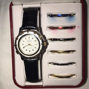 Peugeot Women's Watch w/ changeable bezels